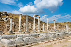 Side ancient Greek city ruins Royalty Free Stock Photography