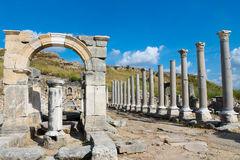 Side ancient Greek city ruins Stock Image