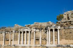 Side ancient Greek temple ruins Stock Photography
