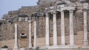 Side Ancient Ruins. Antalya side ancient Stock Photo