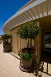 A side angle of an exterior veranda Royalty Free Stock Images