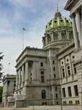 Side Angle View of Pennsylvania State Capitol Building Royalty Free Stock Image
