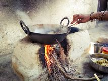 Traditional way of cooking stock image