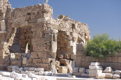 Side - Antique City. Ruins in Side, Turkey (close to Apollo temple Royalty Free Stock Photo
