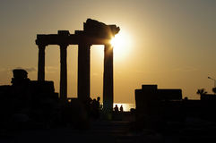 Side - Apollo Temple. (sunset), Turkey Royalty Free Stock Photos