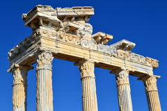 Side Apollon temple. The Temple of Apollo is located at the end of Side's peninsula royalty free stock photos