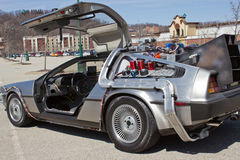 Side of Back to the Future Royalty Free Stock Images