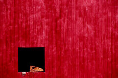 Side of barn and Baskets through Window Stock Image