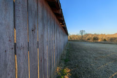 Side of Barn. At sunset Royalty Free Stock Image