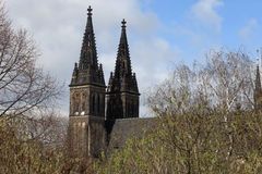 Side of basilica in Vysehrad Stock Photo