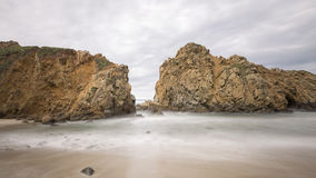 Side Beach at Pfeiffer beach Royalty Free Stock Photos
