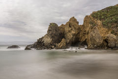 Side Beach at Pfeiffer beach Royalty Free Stock Photo