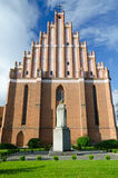 Side of beautiful Polish basilica Royalty Free Stock Photography
