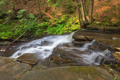 Side of Beecher Creek. Falls at the top stock photography