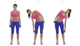 Side Bend With Dumbbells Royalty Free Stock Photo