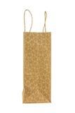 Side of brown kraft paper bag Royalty Free Stock Image