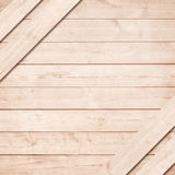 Side of brown wooden crate, box with diagonal planks Royalty Free Stock Images