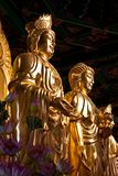 The Side Buddha and Quan-Yin Stock Photography