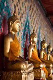 Side of buddhist statue Stock Photos