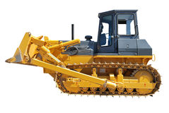 Side Of Bulldozer over white Stock Images