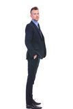 Side of a business man looking at you Royalty Free Stock Photo