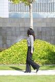 Side businesswoman walking Royalty Free Stock Image