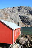 Side of a cabin  in Nusfjord Stock Photography