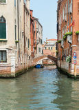 Side Canal in Venice Stock Images