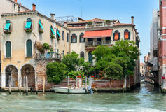 Side Canal in Venice Royalty Free Stock Photography