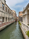 Side Canal in Venice Stock Image