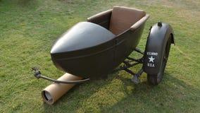 Side-car da motocicleta do exército dos EUA de WWII fotografia de stock