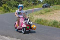 Side-car engraçado do Vespa Fotografia de Stock