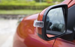 Side car mirror. Close-up Stock Image