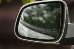 Side car mirror. Stock Image
