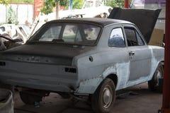 Side car repair. In the garage stock image
