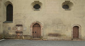 Side of catholic church St. Georg und Katharina in Traunstein, Germany Royalty Free Stock Image