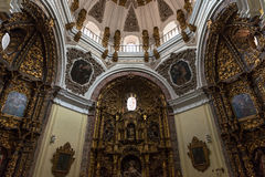 Side chapel in the Colegiata de San Antolin, Medina. Inside view of one of the side chapels in the Colegiata de Antolin church in Toledo, a side church built in Stock Photography
