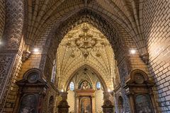 Side chapel in the gothic Cathedral of Toledo Royalty Free Stock Images
