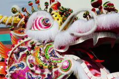 Side of Chinese Dragon Head Outdoors Parade Stock Photos