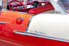 Side of a Classic Bel Air Car Royalty Free Stock Photos