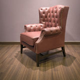 Side Classic luxury Brown armchair Royalty Free Stock Photos