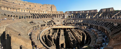 In side the Coloseum. A panoramic view from the second floor In side the Coloseum Royalty Free Stock Image