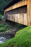Side of covered bridge Stock Photo