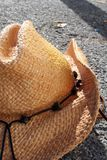 Side of Cowboy Hat. The Side of a cowboy hat laying on the ground stock photography