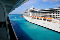 Side of a Cruise Liner Stock Photos