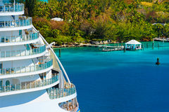 Side of a cruise ship Royalty Free Stock Photography