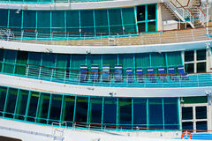Side of a cruise ship Royalty Free Stock Images