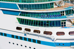 Side of a cruise ship Stock Image