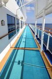 Side Deck of Cruise Ship Stock Photography