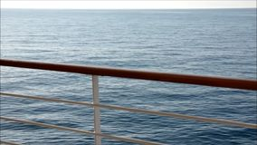 Side deck of cruise ship sailing stock video